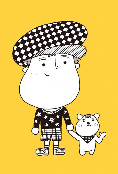 少年と猫のイラスト