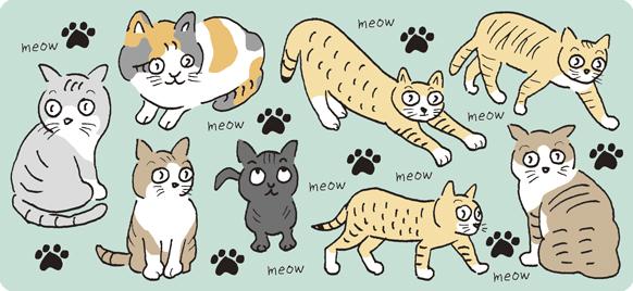 猫(ねこ・ネコ)のイラスト・キャラクター
