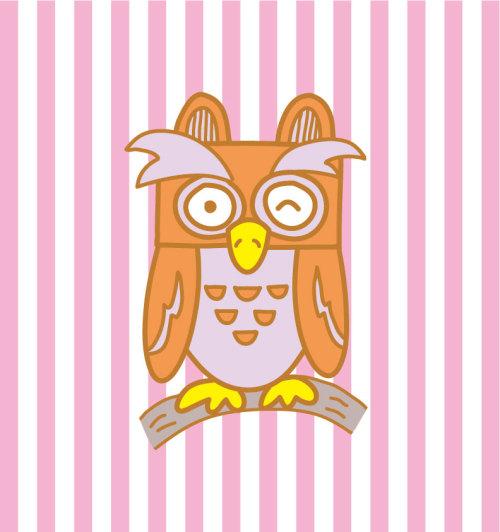 鳥のキャラクター(フクロウ)
