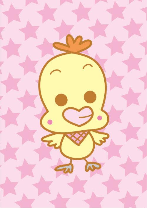 鳥のキャラクター(ひよこ)