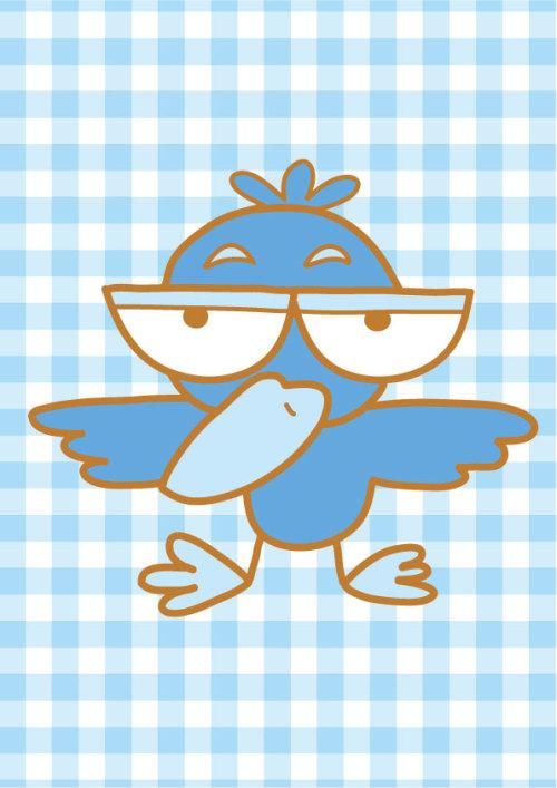 鳥のキャラクター(カラス)