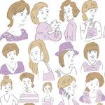 女性向けの線画イラスト