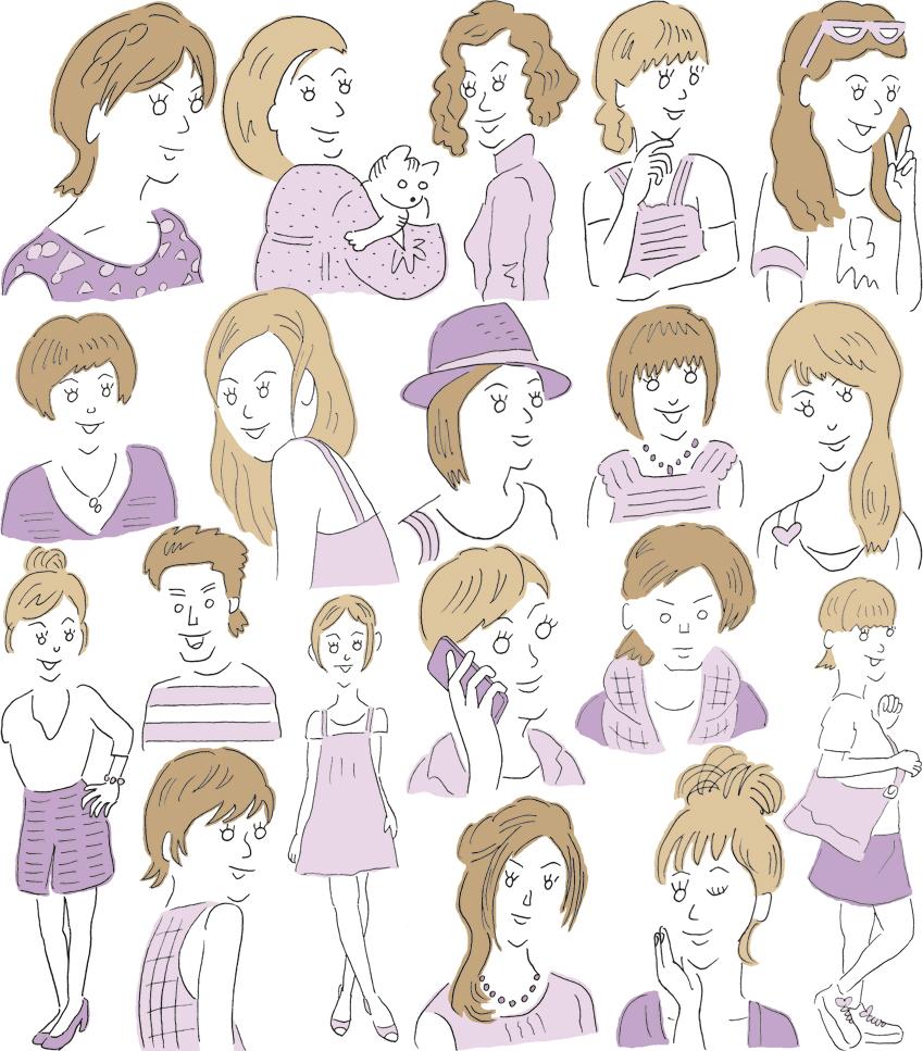 女性向けイラスト (ファッションイラスト) | illustrator sagar jhiroh