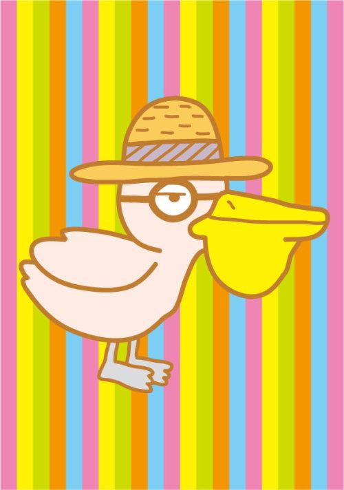 鳥のキャラクター(ペリカン)