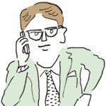 電話で話す男性イラスト